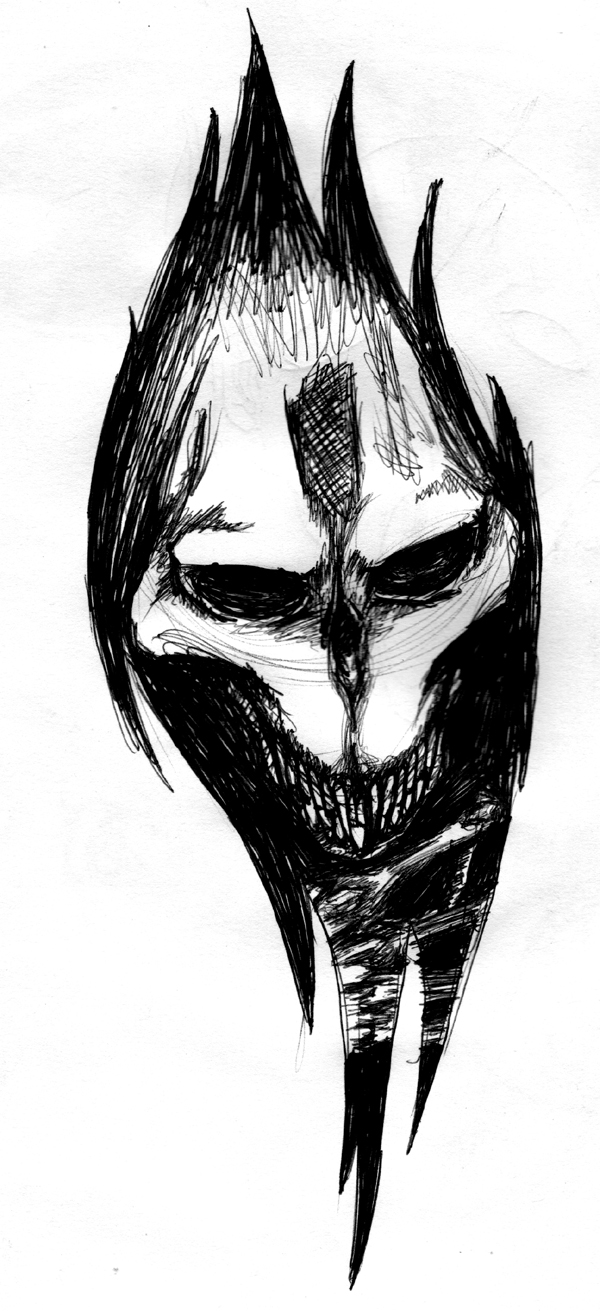 Flash: Alien Skull Ripped Skin by RHH7288