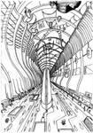 Future town Line art