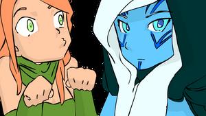 Dota 2 Windr Ranger and Drow Ranger