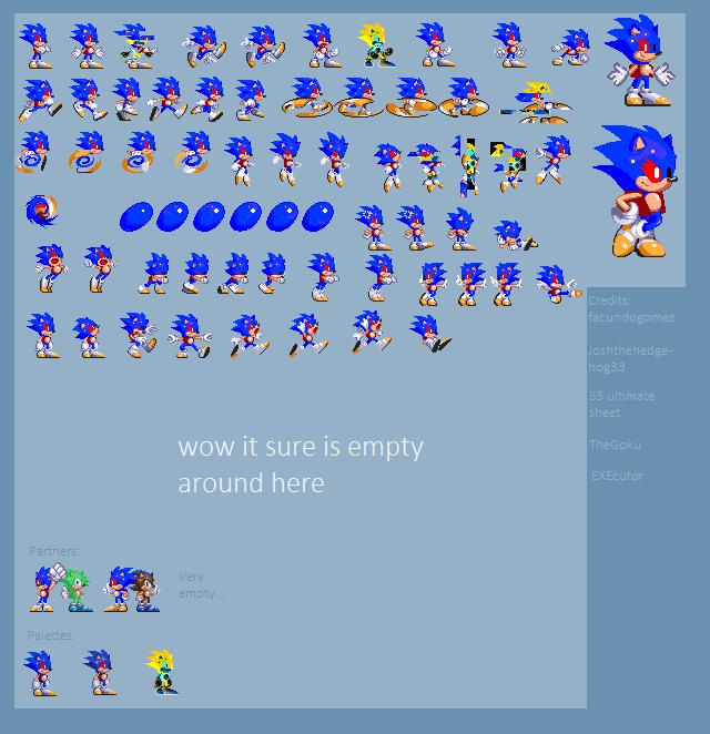 Glitch The Hedgehog Mini Sprite Sheet (UPDATED) by BobDaScatcherGuy