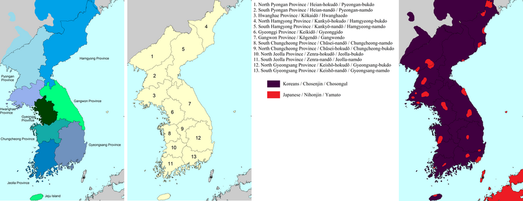Chosen Korea dialect and ethnicity by SheldonOswaldLee