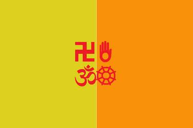 Japanese Bali Kingdom Flag 6 by SheldonOswaldLee