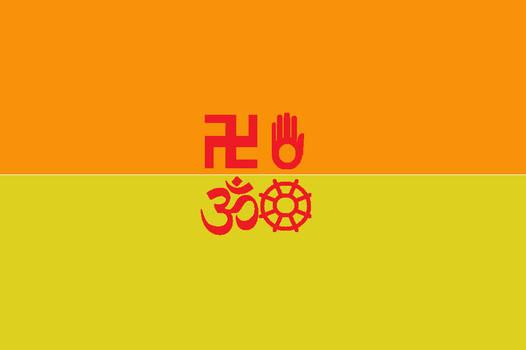 Japanese Bali Kingdom Flag new variation 8 by SheldonOswaldLee