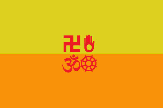 Japanese Bali Kingdom Flag new variation 9 by SheldonOswaldLee