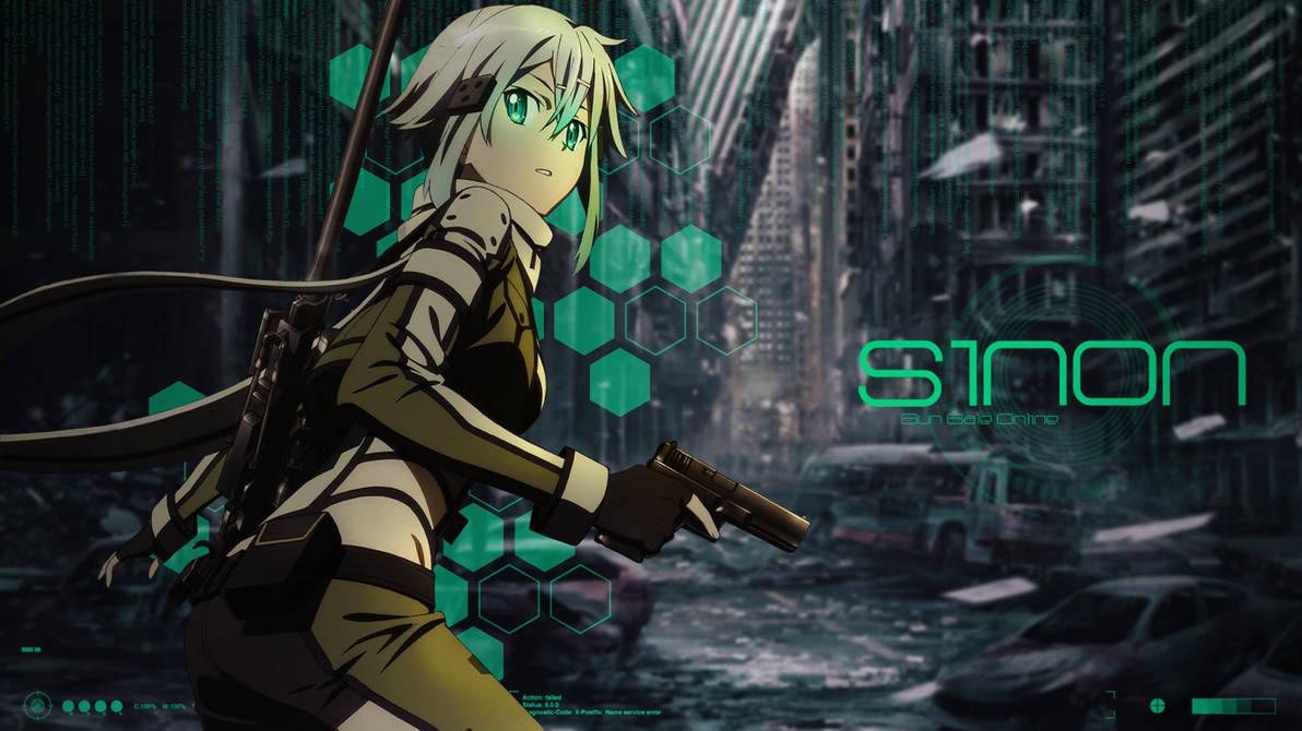 Sword Art Online Sinon Desktop Wallpaper By Trinexz On Deviantart