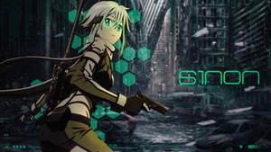 Sword Art Online Sinon - Desktop Wallpaper