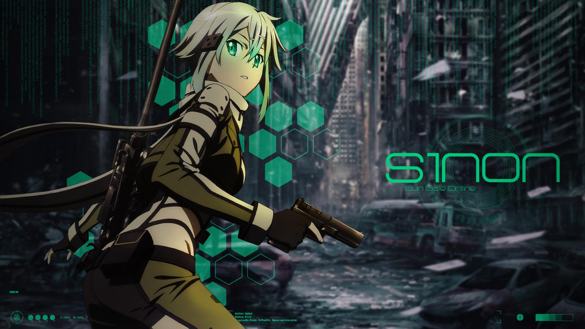 Group Of Sinon Gun Gale Online Wallpaper