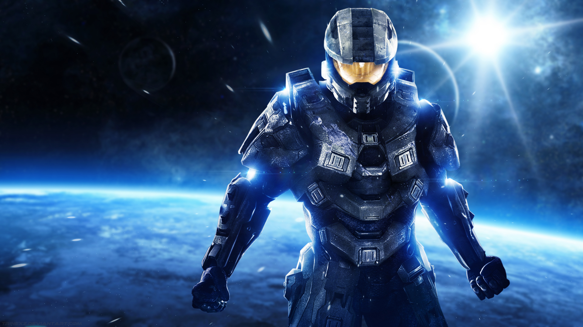 Halo master chief desktop wallpaper by trinexz on deviantart - Halo 4 pictures ...