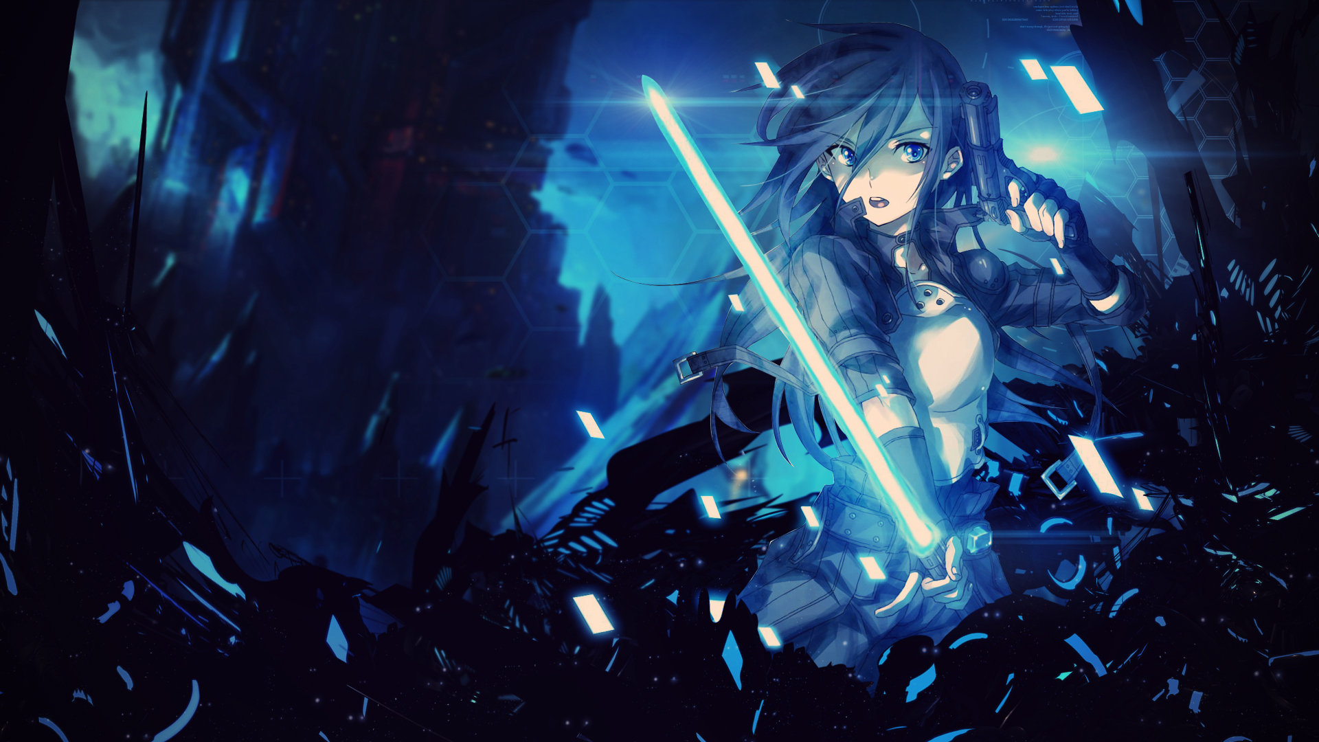 Sword Art Online - GGO Kirito Wallpaper by Trinexz on ...