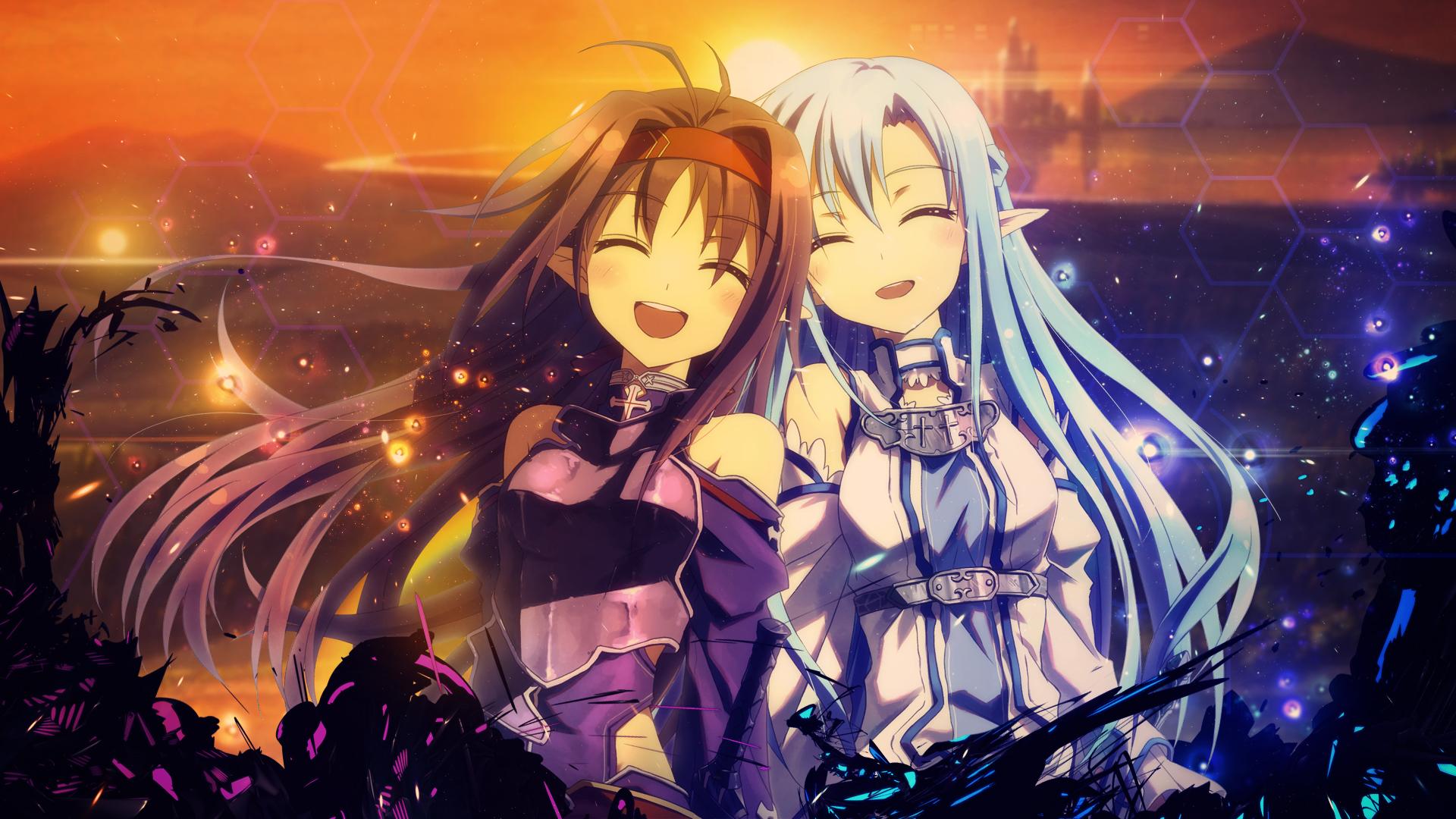 Sword Art Online Asuna And Yuuki Wallpaper By Trinexz On Deviantart