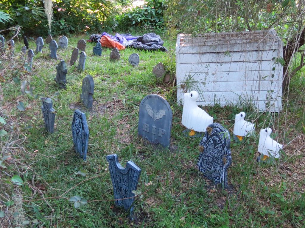 Graveyard Ghost Ducks by Dream-finder