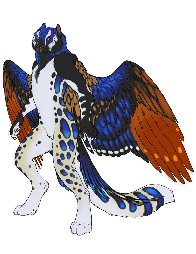 Anthro Peacock Gryphon by Un-Do by Dream-finder