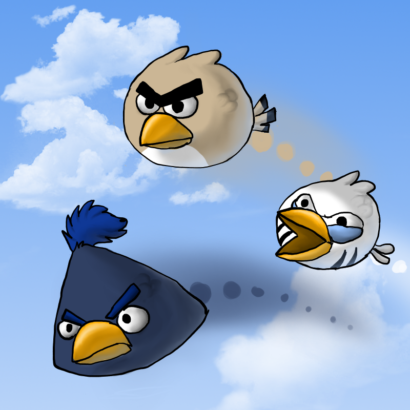 Angry Birds by InuKii