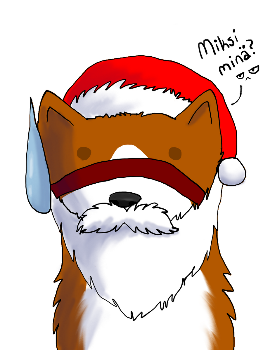 Diimon santa by InuKii