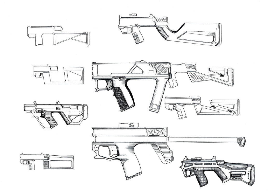 Sketches of a smg by adamjensen27