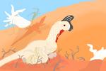 Brooding oviraptorid