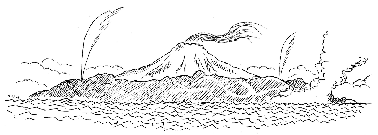 Volcanic shore by Concavenator