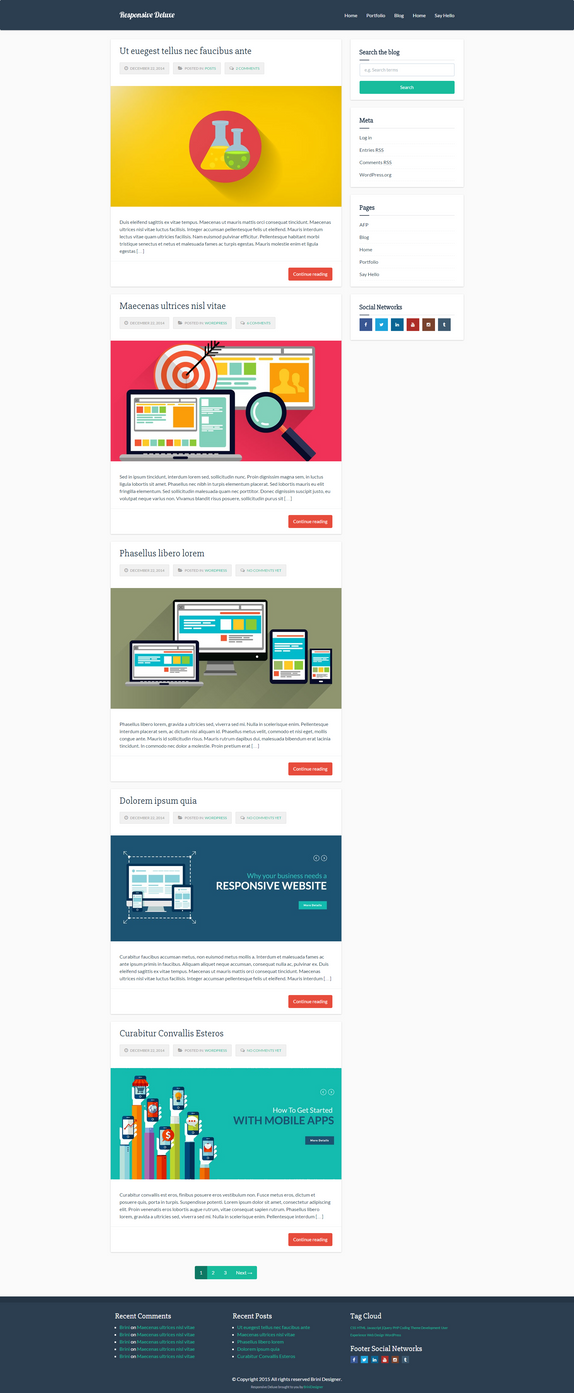 Responsive Deluxe Free WordPress Theme by MrSpecial