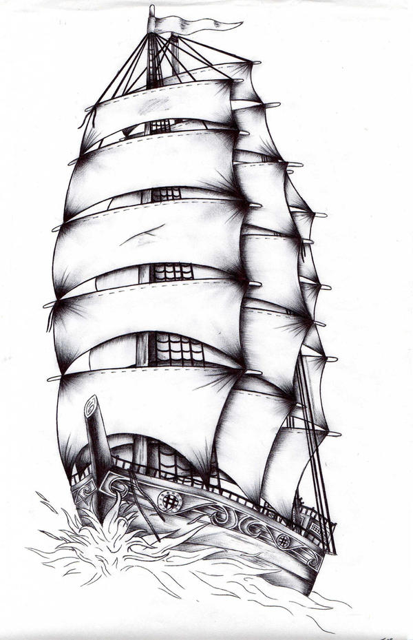 Clipart Old Sailing Ship
