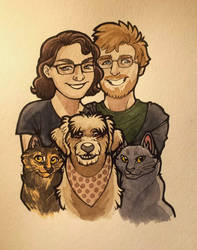 Family Portrait (commission) by NeoSkejd