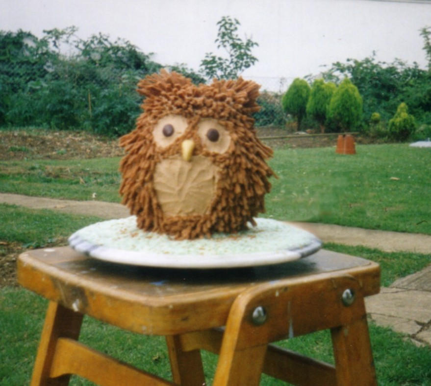 owl cake by ah-Grasshopper