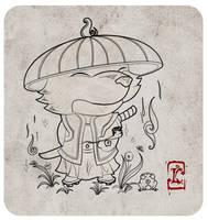 DAC Theme challenge: Samurai - Weasel Samurai by LuisMonterieArt