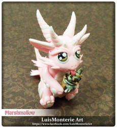 Marshmallow Dragon by LuisMonterieArt