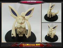 Pokemon Sylveon  Clay Sketch by LuisMonterieArt