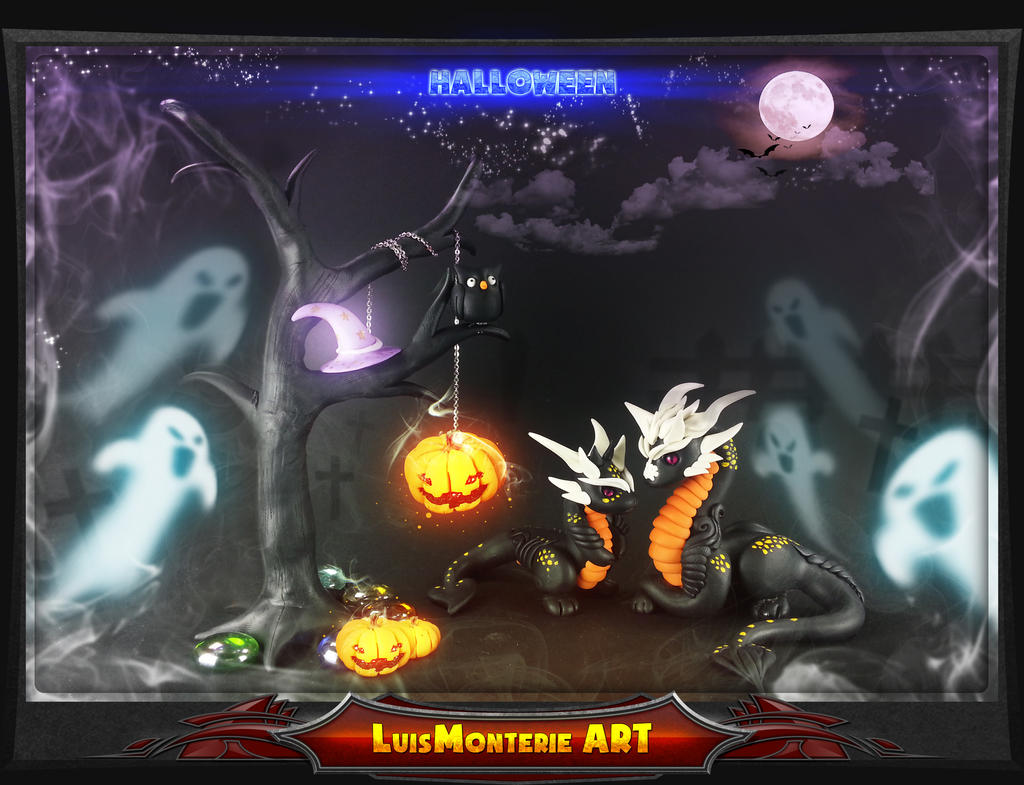 Halloween Dragon by LuisMonterieArt