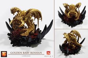 DOTA 2 - Golden Baby Roshan by LuisMonterieArt