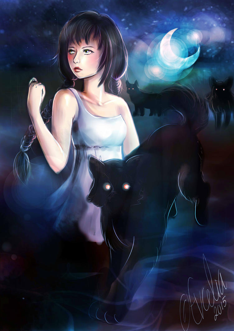 Shadow of the moonlight by Ebsi