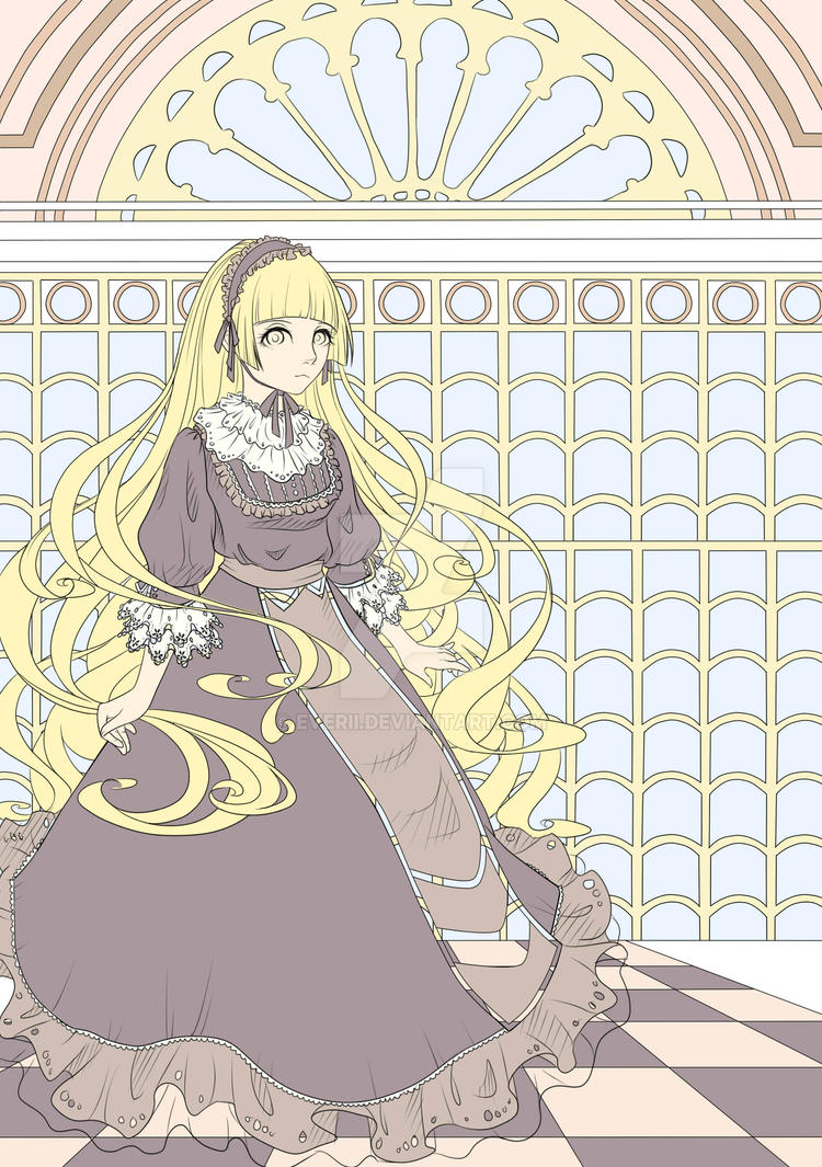 Gosick Victorique in progress by Ebsi