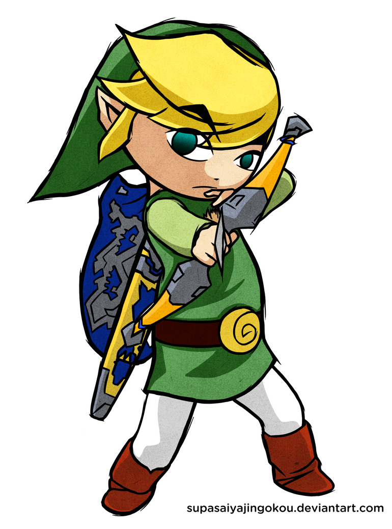 Wind Waker Link - Arching by  Toon Link Wind Waker