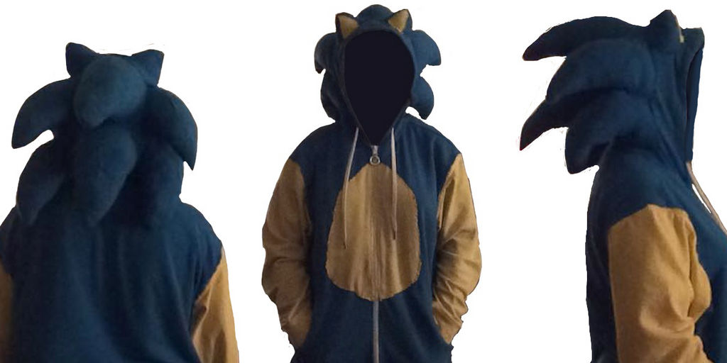 Sonic The Hedgehog Fan Made Hoodie With Quills By Angryhedgehogs On Deviantart