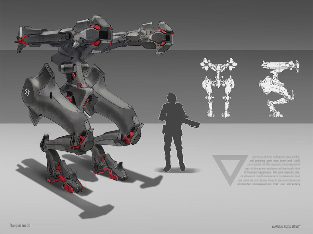 Railgun Mech by Shad3R
