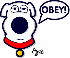 OBEY Brian Griffin by Lie-Around