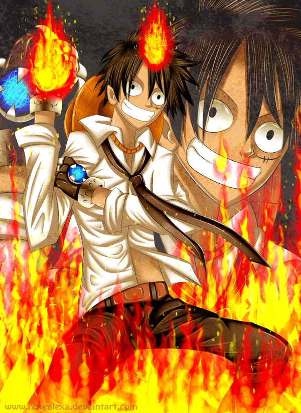 Tsunayoshi D Luffy by renealexa
