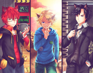 Mystic Messenger - Catboys by renealexa