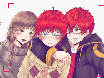 Mystic Messenger - Choi Family by renealexa