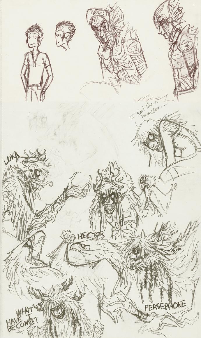 Chilluns sketch dump by MissThunderkin