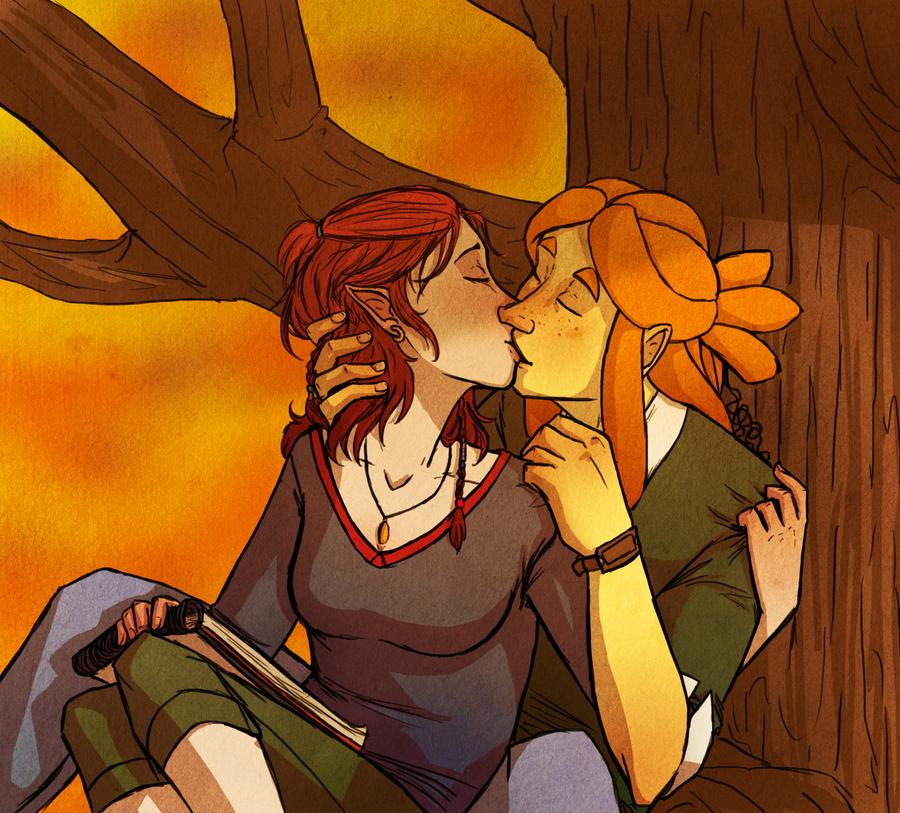 Fall Kisses by MissThunderkin