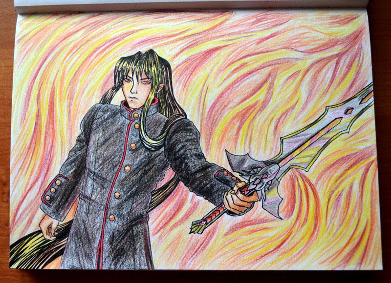 Dark Demiurge in the fire by Irik77