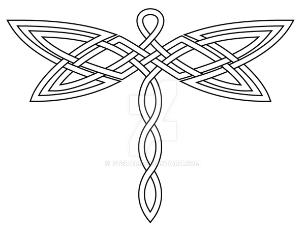 celtic knot dragonfly 2 revis by dystar on deviantart