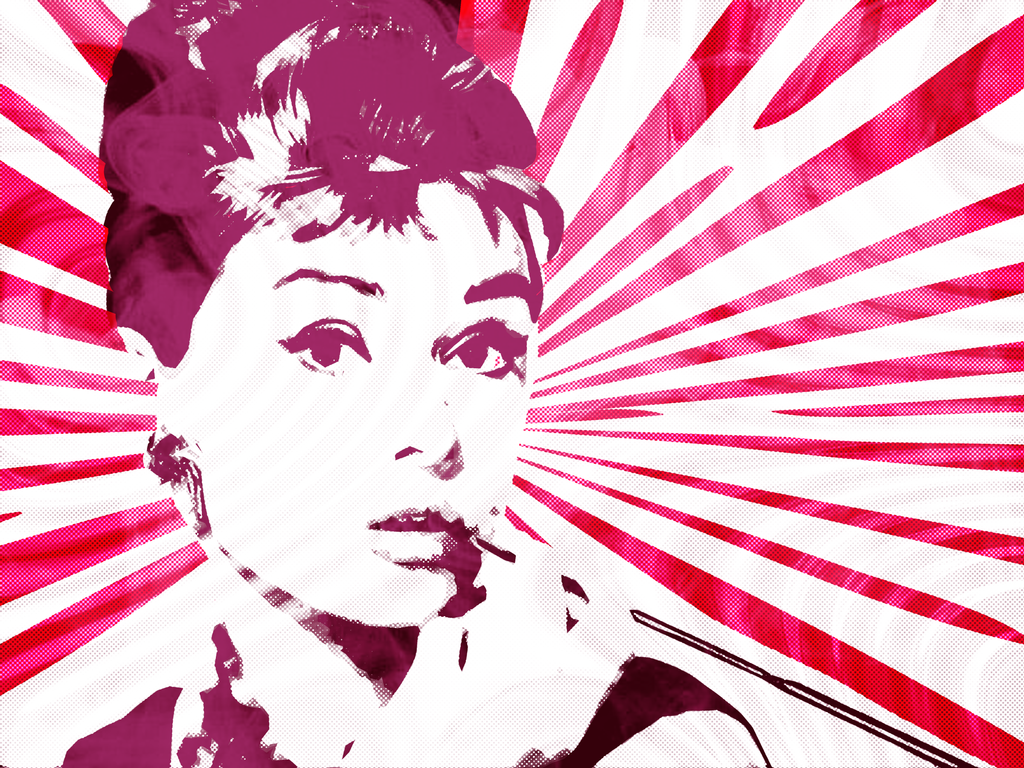 Audrey Hepburn Breakfast At Tiffanys Pop Graphic By