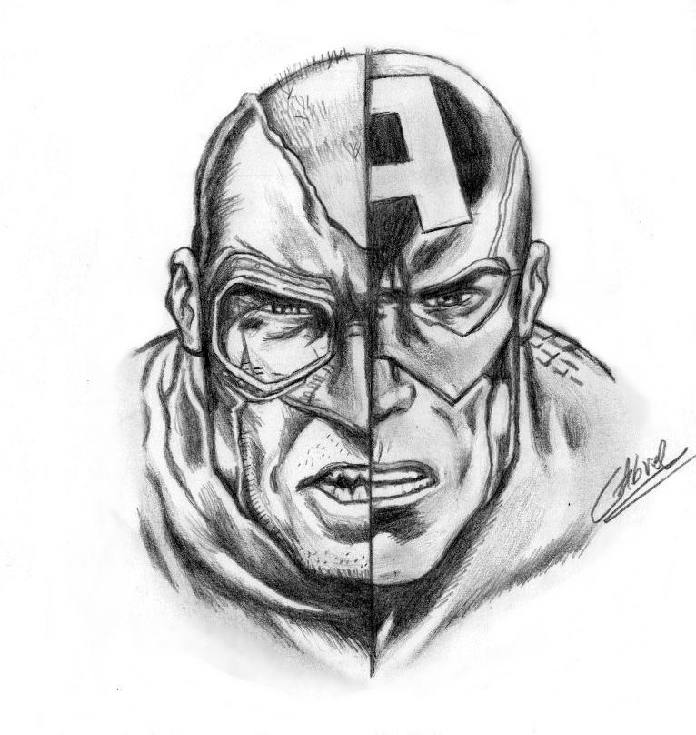 Desenho Capitao America By Gabrielvicente96 On DeviantArt