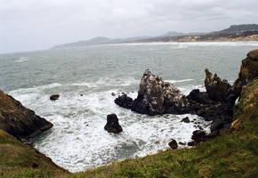 Rocky Coast VI by mackilvane