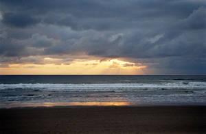 Ocean Sunset V by mackilvane