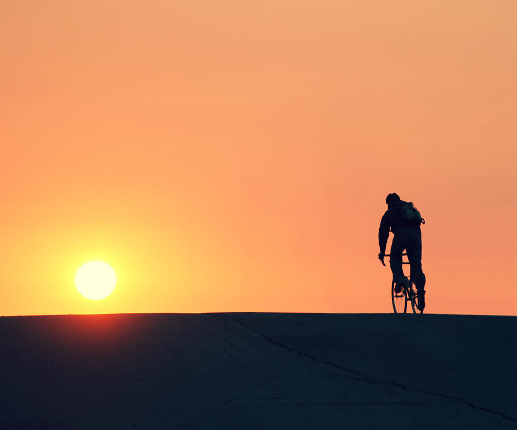 The Solitary Cyclist by mackilvane