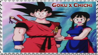 Goku x ChiChi stamp by Nei-Ning