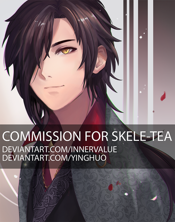 Fishes Collab Commission 2 - Skele-tea by yinghuo